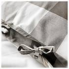 Комплект постельного белья IKEA EMMIE RUTA 200х220 см серый белый 404.049.66, фото 2