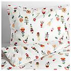 Комплект постельного белья IKEA ROSENFIBBLA 200х200 см цветочный узор 003.302.70, фото 2