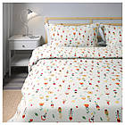 Комплект постельного белья IKEA ROSENFIBBLA 200х200 см цветочный узор 003.302.70, фото 4