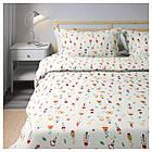 Комплект постельного белья IKEA ROSENFIBBLA 200х220 см цветочный узор 504.032.40, фото 3