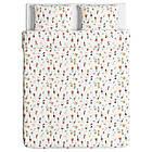 Комплект постельного белья IKEA ROSENFIBBLA 200х220 см цветочный узор 504.032.40, фото 4