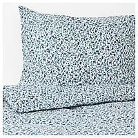 Комплект постельного белья IKEA VATTENMYNTA 150х200 см белый синий 403.902.62