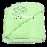 Детское махровое (очень длинная петля) уголок-полотенце после купания 95х95 см ТМ Ярослав 3073 Салатовый 4