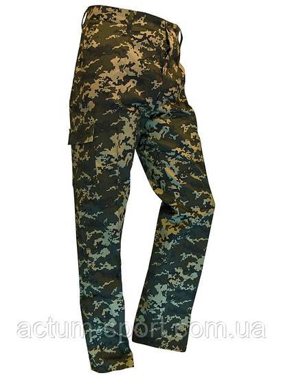 Штаны мужские для охоты и рыбалки камуфляж Pixel Green