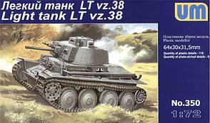 LTvz.38. Сборная модель танка в масштабе 1/72. UM 350