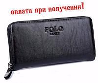 Мужской чоловічий шкіряний кожаный кошелек портмоне клатч Polo Fanke, фото 1
