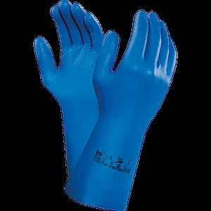 Защитные перчатки RAVIRTEX79-700 N из нитрила, синего цвета. REIS