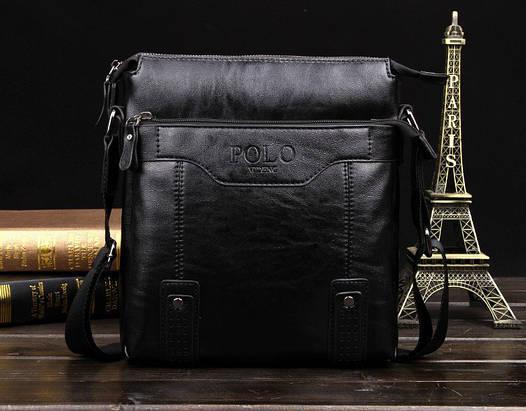 Мужская сумка Polo Videng Vicuna черная