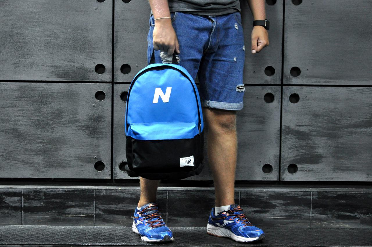 Рюкзак спортивный New balance, нью беленс, голубой