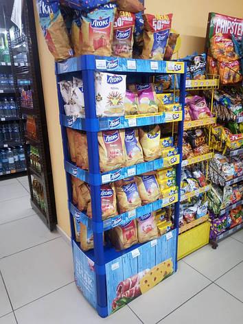 Торговая стойка б/у для магазинов под чипсы, сухарики и др. товары, фото 2