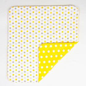 Детское хлопковое одеяло BabySoon Солнышко 80 х 85 см желтый (211)