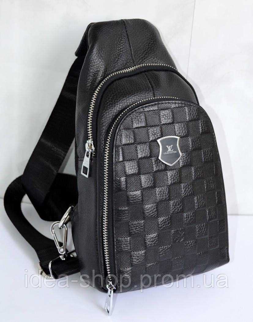 11ed67b94b53 Мужская кожаная сумка-слинг, сумка-мессенджер через плечо. -  интернет-магазин