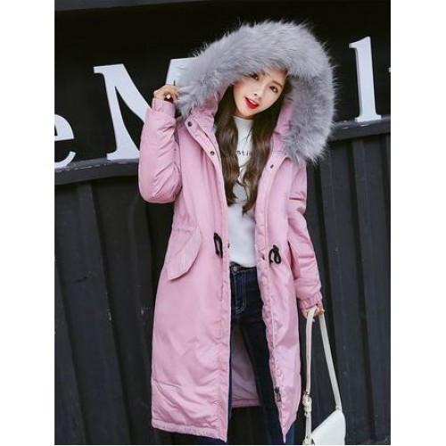 Куртка длинная розовая (размер L)-215-02-2
