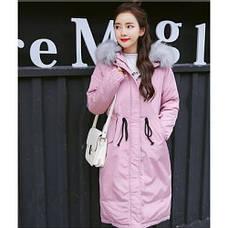 Куртка длинная розовая (размер L)-215-02-2, фото 3
