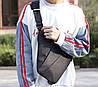 Мужская водонепронецаемая сумка Cross Body 6016 Мессенджер антивор на плечо рюкзак слинг Серый, фото 10