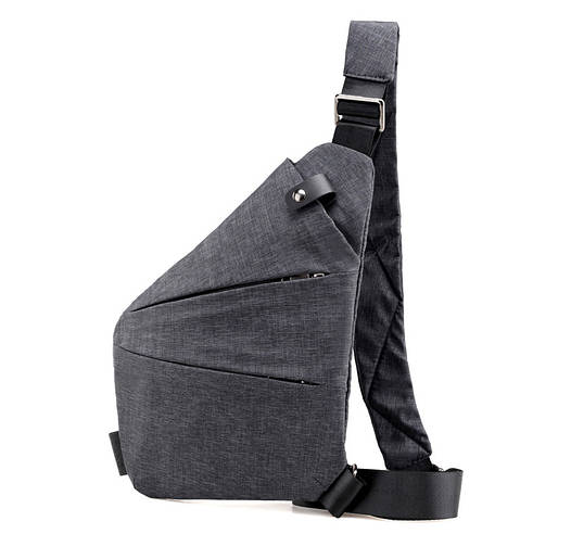 Мужская водонепронецаемая сумка Cross Body 6016 Мессенджер антивор на плечо рюкзак слинг Серый