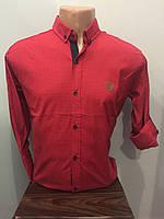 Рубашка мужская на пуговицах рукав трансформер L,XL
