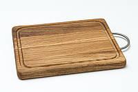 Разделочная доска 20х25 с металической ручкой