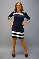 Платье модное красивое до колен Шанель синий
