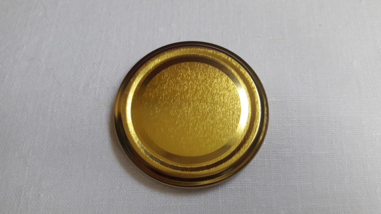 Крышка закаточная твист-офф размер 66 мм золото