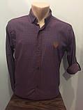Мужская рубашка в мелкий рисунок на пуговицах S-XL, фото 2