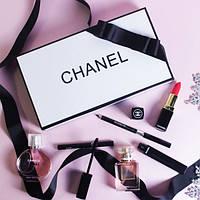 Подарочный набор косметики и парфюмерии Chanel Present 5 в 1 Реплика Шанель прекрасный вариант подарка