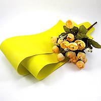 Фоамиран Китай жёлтый, 1/2 м, толщина 1 мм