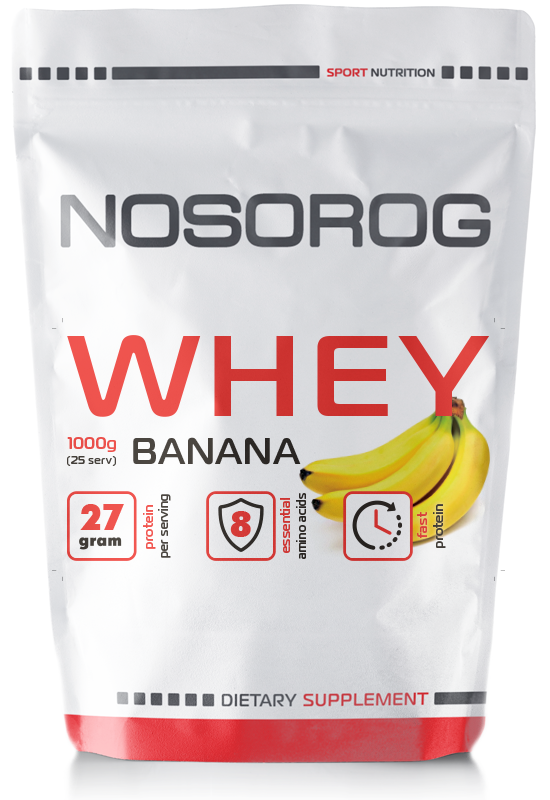 NOSOROG Whey 1 kg (сывороточный протеин; ксб; концентрат сывороточного протеина; быстрый протеин; ЭКО)