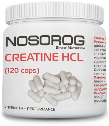 Креатин гидрохлорид в капсулах NOSOROG Creatine HCl 120 caps