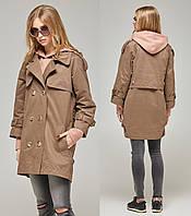 90e110b3859 Демисезонное пальто женское легкое осеннее коттоновое
