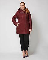 Бордовое пальто больших размеров