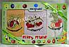 Полотенца кухонные вафельные - Merpatti - Crazy Fruits - 3шт. 45*65 -100% хлопок - Турция -