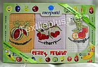 Полотенца кухонные вафельные - Merpatti - Crazy Fruits - 3шт. 45*65 -100% хлопок - Турция -, фото 1