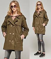 bbe0a0a458a Легкое пальто женское демисезонное осеннее коттоновое