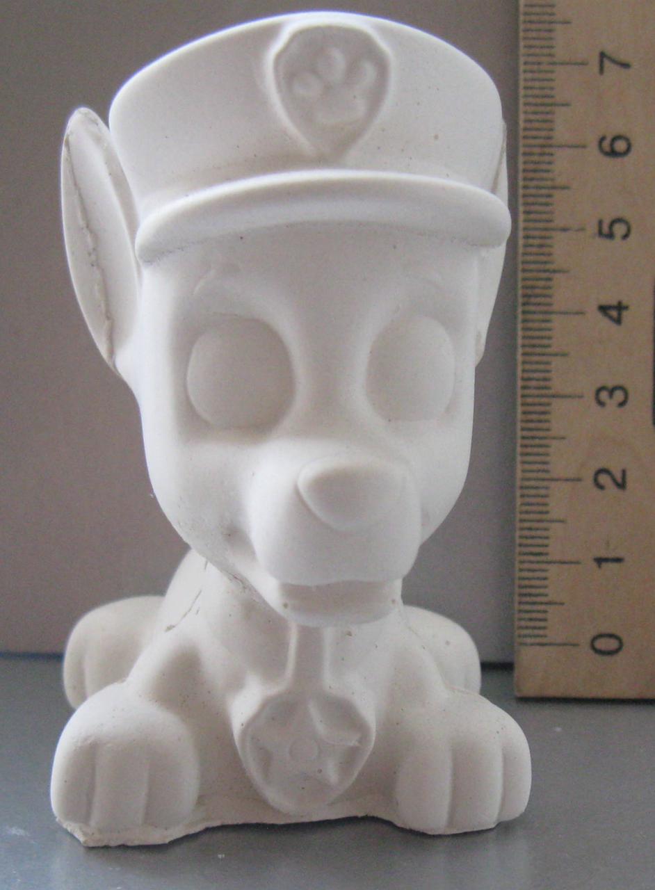 Гипсовая фигурка для раскрашивания статуэтка. Гіпсова фігурка для розмальовування. Щенок полицейский