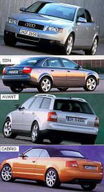 Зеркала для Audi A4 2001-04