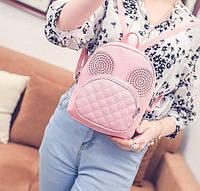 Красивый Рюкзак-сумка мини Розовый