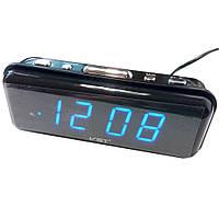 Настольные часы VST-738 (Синяя подсветка)