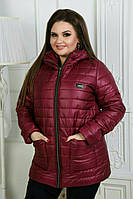 Куртка женская на синтепоне в батале, фото 1