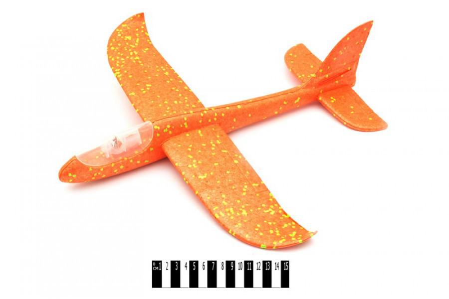 Планер большой метательный с подсветкой, самолет летающий, камикадзе светится