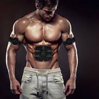 Миостимулятор 3 в 1 оригинал для мышц пресса и рук Smart Fitness Trainer Beauty Body 6 Pack EMS Электростим.