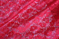 Красный.Ткань гипюр , фото 1