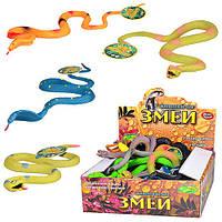 Рептилия 7213, змеи, 60 см, 5 видов, 24 шт. в дисплее, 21, 5-19, 5-7 см