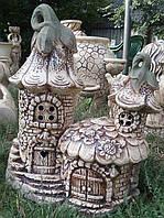 Фигура для сада Домик феи из керамики
