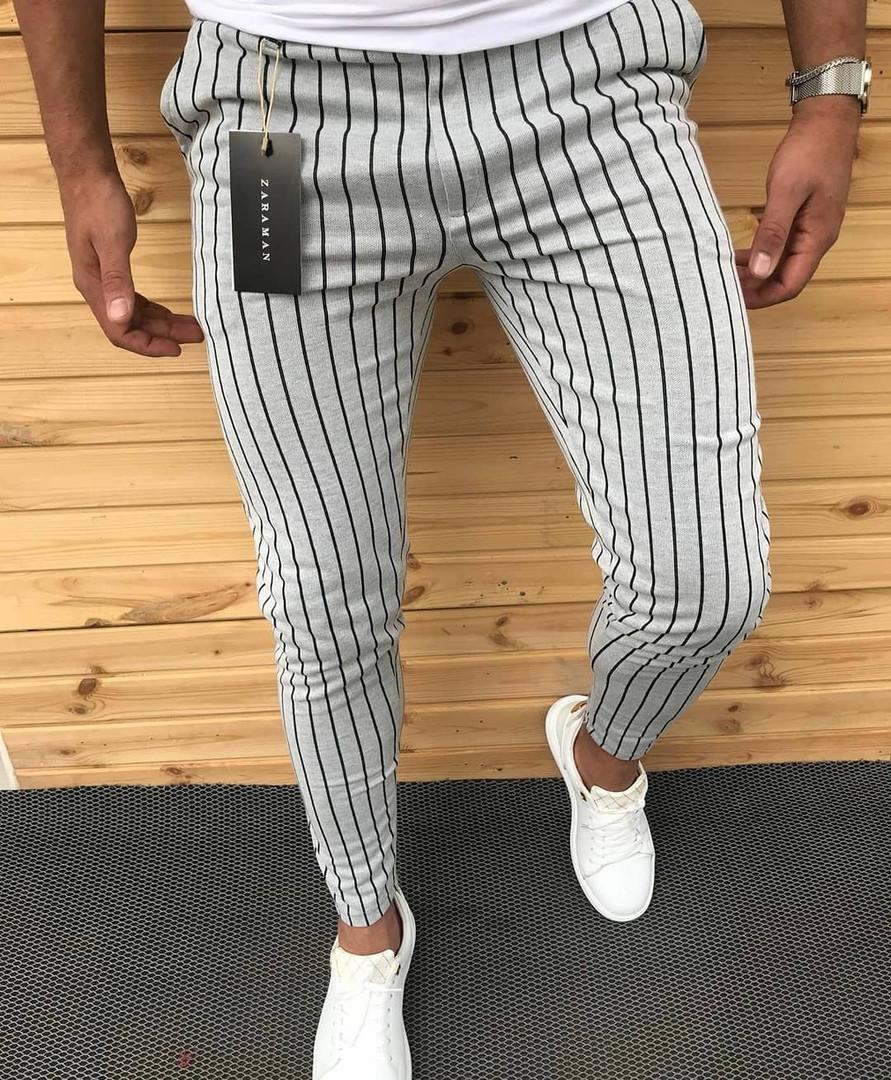 68cbacf8e5b Новые Мужские Штаны Zara Турция Легкие 100% Cotton Мужские Турецкие Белые  Брюки XL