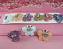Детские резинки для волос Бабочки в блестках 12 шт/уп, фото 2