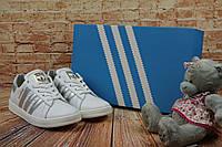 Женские  кеды Adidas SuperStar весенние осенние стильные  лучшие на каждый день (белые), ТОП-реплика, фото 1