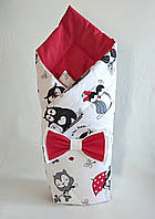 Осенний конверт на выписку из роддома, одеяло для новорожденного 05