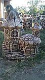 Фигура для сада Домик феи из керамики, фото 3