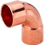 Колено медное для медной трубы 90* 3/8 '' (9,53 мм)